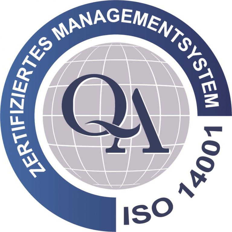 ISO Zertifikat 14001 - 2015